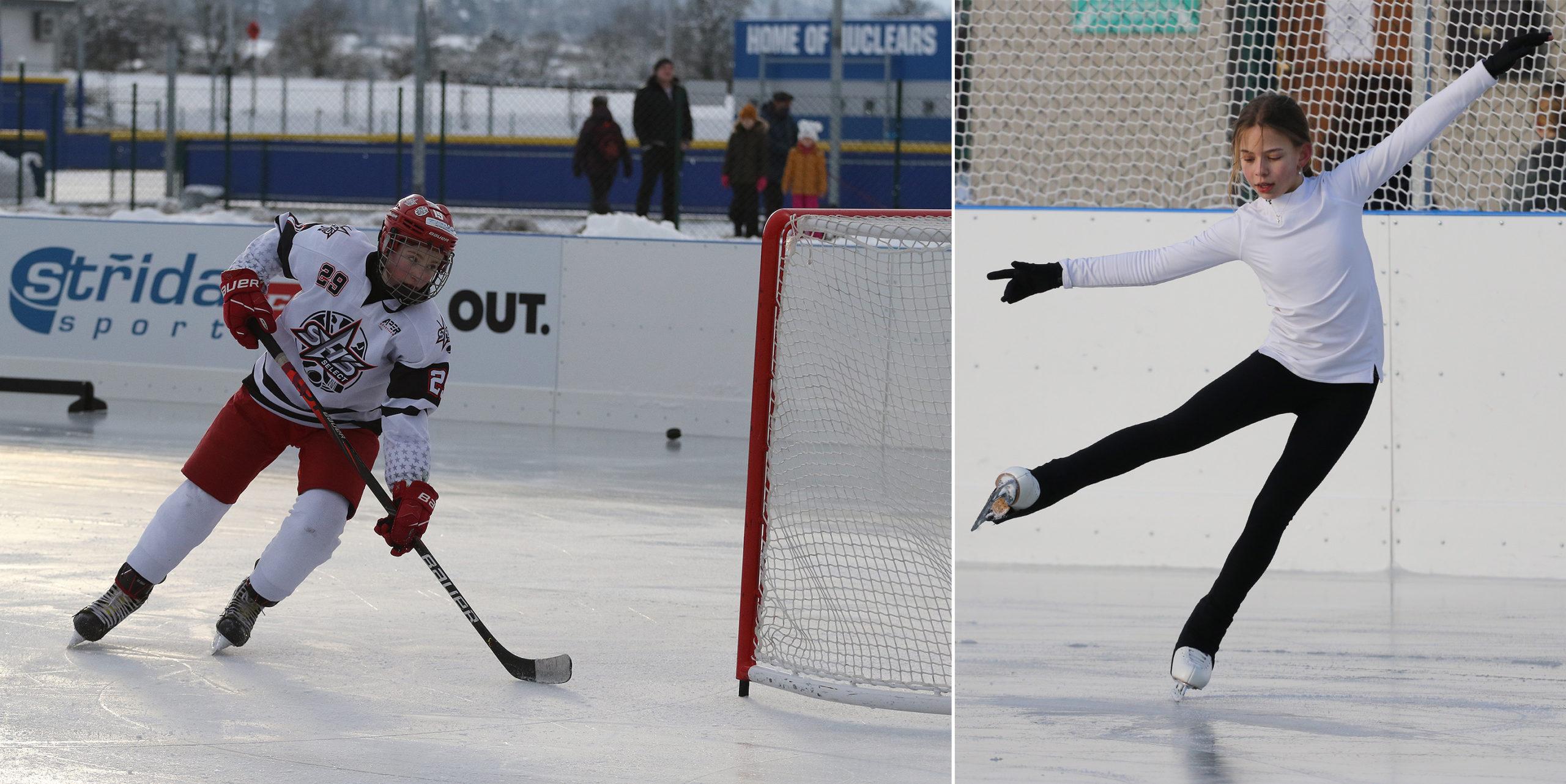 Led Na Hvězdě je záchranou pro hokejisty a krasobruslařky